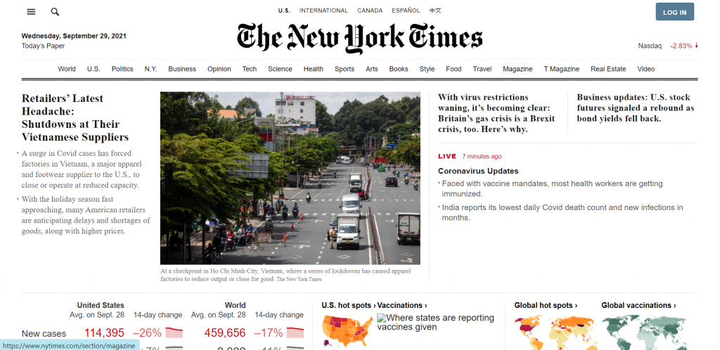 NewYorkTimes.com - thecodinghouse.in